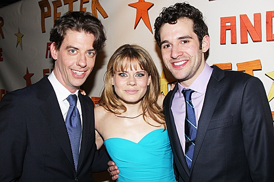 Peter and the Starcatcher Opening Night  Christian Borle  Celia Keenan-Bolger  Adam Chanler-Berat