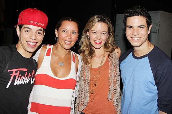 Vanessa Williams Visits Bring It On  Nicolas Womack - Vanessa Williams  Kate Rockwell  Jason Gotay