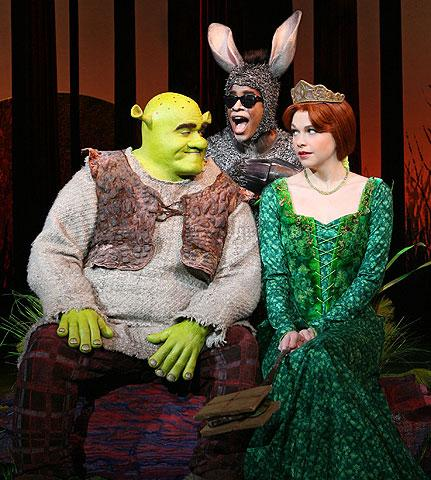 Shrek the Musical - Show Photos - Brian d&#39;Arcy James - Daniel Breaker - Sutton Foster