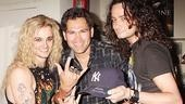 The game's over, but Rock of Ages's Jeremy Woodard and Constantine Maroulis are amped to have scored a visit from Johnny Damonand the rest of the MLB stars.