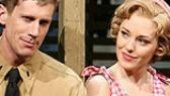 Andrew Samonsky as Lt. Joseph Cable and Laura Osnes as Nellie Forbush in South Pacific.