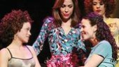 Marcy Harriell as Vanessa, Andrea Burns as Daniela, Mandy Gonzalez as Nina and Janet Dacal Carla in In the Heights.