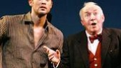 Cheyenne Jackson as Woody and Jim Norton as Finian McLonergan in Finian's Rainbow.