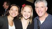 "Assistant director Jen Bender gets in a cute three-shot with Anika Larsen and ""Billy Elliot""'s Gregory Jbara."