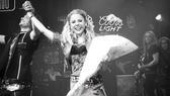 Kerry Butler first performance in Rock of Ages – Constantine Maroulis – Kerry Butler (curtain call grin)