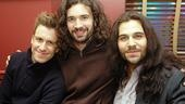 Gavin Creel shares his excitement with Hair castmates Paris Remillard and Steel Burkhardt.