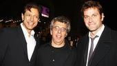 Eric Bogosian gets between Jeff Goldblum (his co-star in Law & Order: Criminal Intent) and Peter Hermann (who appeared in the Broadway revival of Bogosian's Talk Radio).