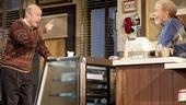 Yasen Peyankov as Max Tarasov and Michael McKean as Arthur Przybyszewski in Superior Donuts.