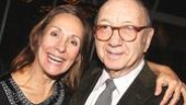 And here's the man of the hour: playwright Neil Simon, who gets a squeeze from leading lady Laurie Metcalf (Kate Jerome).