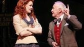 Kate Baldwin as Sharon and Jim Norton as Finian McLonergan in Finian's Rainbow.