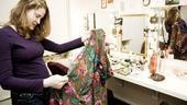 Another keepsake is a flowered robe patched with bits of fabric from the costumes of every show Christiane Noll has ever done.