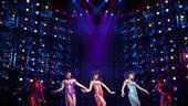 Margaret Hoffman as Michelle Morris, Syesha Mercado as Deena Jones and Adrienne Warren as Lorrell Robinson in Dreamgirls.