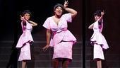 Syesha Mercado as Deena Jones, Moya Angela as Effie White and Adrienne Warren as Lorrell Robinson in Dreamgirls.