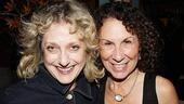 Rhea Perlman is congratulated by longtime pals Carol Kane (who starred on TV's Taxi with Rhea's hubby Danny DeVito).