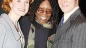 The pride of New Rochelle, Christiane Noll (Mother) and Ron Bohmer (Father) greet Whoopi Goldberg after the show.
