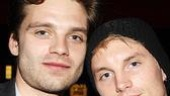 Hunk alert: Gossip Girl's Sebastian Stan hangs out with Toby Hemingway.