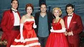 Late Night host Jimmy Fallon shares a festive photo with White Christmas stars James Clow, Melissa Errico, Mara Davi and Tony Yazbeck.