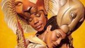 Gloria Onitiri as Nala and Andile Gumbi as Simba in Lion King.