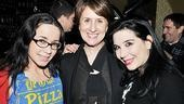 Star Janeane Garofalo, Love, Loss scribe Delia Ephron and author Gerilyn Lucas beam at yet another successful opening night for the hit show.