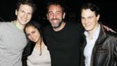Trey Parker at Jersey Boys – Sebastian Arcelus – Trey Parker – girlfriend Boogie Tillmon – Matt Bogart