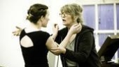 The Glass Menagerie Rehearsal – Keira Keeley – Judith Ivey – fight