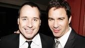 These two go way back: Producer David Furnish and former Will and Grace star Eric McCormack were classmates back in college!