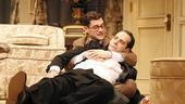 Justin Bartha as Max and Tony Shalhoub as Saunders in Lend Me a Tenor.