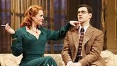 Jennifer Laura Thompson as Diana and Justin Bartha as Max in Lend Me a Tenor.