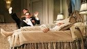 Justin Bartha as Max, Tony Shalhoub as Saunders and Anthony LaPaglia as Tito Merelli in Lend Me a Tenor.