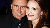 Anthony LaPaglia and Jennifer Laura Thompson, who play opera stars onstage, savor their opening night.
