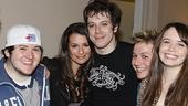 Lea Michele Visits American Idiot  Brian Charles Johnson  Lea Michele  John Gallagher - Gerardo Canonico - Phoebe Strole