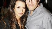Lea Michele Visits American Idiot  Lea Michele  Michael Mayer