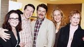 Burnett &amp; Mullally at Promises, Promises  Megan Mullally  Sean Hayes  Nick Offerman  Katie Finneran  Carol Burnett