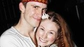 Look at those grins! Gavin Creel gives Allison Case (Crissy) a happy squeeze.