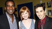"Castmates Norm Lewis and Matthew Scott flank their ""Beautiful"" co-star, Erin Mackey."