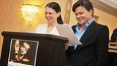 Sutton and Hunter Foster at The Outer Critics Circle Awards – Sutton Foster – Hunter Foster – reading