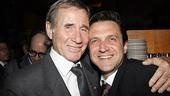 Jim Dale reunites with his former Comedians co-star Raul Esparza at the hopping Broadway bash.