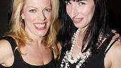 Sherie Rene Scott visits with Nikka Graff Lanzarone, her co-star in the workshop of Women on the Verge.