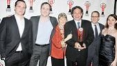 Let the trophy-toting begin! Stars Michael Mosely, Patch Darragh, Judith Ivey and Keira Keely and director Gordon Edelstein of the Roundabout Theatre Company's The Glass Menagerie take home the award for Outstanding Revival…