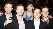 The Temperamentals' Matthew Schneck, Arnie Burton, Michael Urie, Sam Breslin Wright and Thomas Jay Ryan toast their show's Outstanding Play nomination.