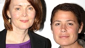 We stand corrected: There are two doctors in this house! ER's Laura Innes and Maura Tierney check out This Wide Night.