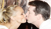 Kristin Chenoweth and Sean Hayes at Tonys Di Napoli  kiss