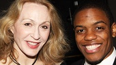 Talented Tony nominees Jan Maxwell, now appearing in Lend Me a Tenor and John Michael Hill, who made a splash in Superior Donuts earlier in the season, chat at the starry affair.