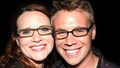 Jennifer Laura Thompson gets cheek to cheek (or should we say specs to specs) with Tenor understudy Brian Sears.