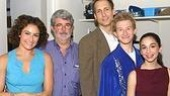 Laura Benanti, George Lucas, Gregg Edelman, Adam Wylie & Molly V. Ephraim backstage.