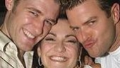 Shoshana Bean (center) with Hairspray costars Matthew Morrison and Clarke Thorell.