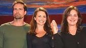 Jason Patric and Kristin Davis (who performed together in a piece called Impact) take a bow with Music Supervisor Georgia Stitt.