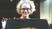 The Producers star Cady Huffman with her favorite t-shirt.