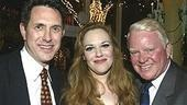 Emily Skinner (center) with two of her past collaborators: Side Show director Robert Longbottom (left) and James Joyce's The Dead co-star Brian Davies.