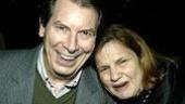 Richard Easton gets congratulated by Wendy Wasserstein.